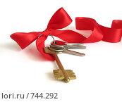 Купить «Ключи от дома с красной лентой», фото № 744292, снято 29 сентября 2007 г. (c) Лилия / Фотобанк Лори