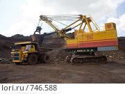 Добыча железной руды открытым способом в карьере (2008 год). Редакционное фото, фотограф Андрей Константинов / Фотобанк Лори