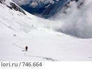 Купить «Восхождение на вершину . Белуха, Алтай, Россия», фото № 746664, снято 26 июля 2008 г. (c) Max Toporsky / Фотобанк Лори