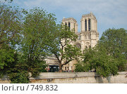 Купить «Собор Парижской Богоматери в Париже. Notre-Dame De Paris», фото № 749832, снято 5 мая 2007 г. (c) Ирина Доронина / Фотобанк Лори