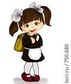 Купить «Маленькая школьница», иллюстрация № 750680 (c) Лена Кичигина / Фотобанк Лори