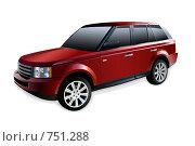 Купить «Новый красный внедорожник», иллюстрация № 751288 (c) Татьяна Медведева / Фотобанк Лори