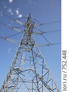 Опора линии электропередачи. Стоковое фото, фотограф Андрей Константинов / Фотобанк Лори