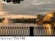 Река в городе Выборг (2008 год). Стоковое фото, фотограф Афанасьева Екатерина / Фотобанк Лори
