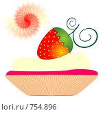 Купить «Клубничный десерт», иллюстрация № 754896 (c) Алексей Лебедев-Реллер / Фотобанк Лори