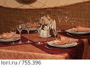 Купить «Сервировка стола», фото № 755396, снято 14 марта 2009 г. (c) Юлия Машкова / Фотобанк Лори