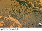Купить «Материнская плата персонального компьютера. Крупный план снизу.», фото № 757636, снято 15 марта 2009 г. (c) Мельников Дмитрий / Фотобанк Лори
