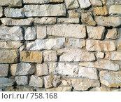 Купить «Стена выложенная из природного камня», фото № 758168, снято 18 марта 2009 г. (c) Кирпинев Валерий / Фотобанк Лори