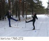 Купить «Лыжницы», фото № 760272, снято 23 февраля 2009 г. (c) Алексей Стоянов / Фотобанк Лори
