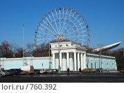 Купить «Колесо обозрения на ВДНХ (ВВЦ), Москва», эксклюзивное фото № 760392, снято 17 марта 2009 г. (c) lana1501 / Фотобанк Лори
