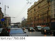 Купить «Ул. Тверская», фото № 760684, снято 10 февраля 2009 г. (c) тб / Фотобанк Лори