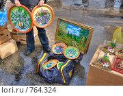 Купить «Уличная торговля. Вернисаж», эксклюзивное фото № 764324, снято 1 марта 2009 г. (c) FotograFF / Фотобанк Лори