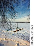 Зимний причал. Стоковое фото, фотограф Бузмаков Николай / Фотобанк Лори