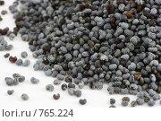 Купить «Семена мака россыпью», фото № 765224, снято 30 января 2009 г. (c) Полина Столбушинская / Фотобанк Лори