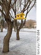 Купить «Кормушка для птиц в Юсуповском саду», эксклюзивное фото № 767684, снято 22 марта 2009 г. (c) Румянцева Наталия / Фотобанк Лори