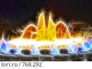 Купить «Фрактальная обработка  фонтана перед Национальным Дворцом Каталонии», иллюстрация № 768292 (c) Vitas / Фотобанк Лори