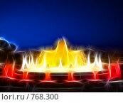 Купить «Фрактальная обработка фонтана перед Национальным Дворцом Каталонии», иллюстрация № 768300 (c) Vitas / Фотобанк Лори