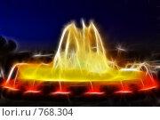 Купить «Фрактальная обработка фонтана перед Национальным Дворцом Каталонии», иллюстрация № 768304 (c) Vitas / Фотобанк Лори