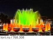 Купить «Фрактальная обработка фонтана перед Национальным Дворцом Каталонии», иллюстрация № 768308 (c) Vitas / Фотобанк Лори