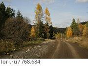 Осенняя дорога. Стоковое фото, фотограф Стародубов Юрий / Фотобанк Лори