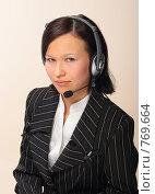 Купить «Женщина-оператор», фото № 769664, снято 25 февраля 2009 г. (c) Николай Туркин / Фотобанк Лори