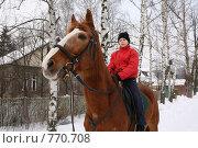 Мальчик на лошади. Стоковое фото, фотограф Агибалова Кристина / Фотобанк Лори
