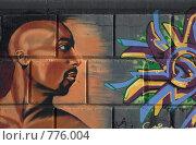 Купить «Граффити. Лицо человека», фото № 776004, снято 28 марта 2009 г. (c) Надежда Безрукова / Фотобанк Лори