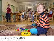 Купить «Мальчик в детском саду», фото № 779400, снято 21 августа 2018 г. (c) Losevsky Pavel / Фотобанк Лори