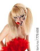 Купить «Девушка в образе дикой кошки», фото № 779608, снято 22 марта 2009 г. (c) Игорь Жоров / Фотобанк Лори