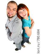 Купить «Девушка и молодой человек стоят к друг другу спиной», фото № 780684, снято 18 июля 2019 г. (c) Losevsky Pavel / Фотобанк Лори