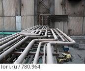 Купить «Теплофикационные трубопроводы на эстакаде», фото № 780964, снято 20 октября 2005 г. (c) Кекяляйнен Андрей / Фотобанк Лори
