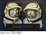 Купить «Репродукция стенда с портретами космонавтов», эксклюзивное фото № 782084, снято 27 марта 2007 г. (c) Дмитрий Неумоин / Фотобанк Лори