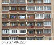 Купить «Четырнадцатиэтажный четырёхподъездный панельный жилой дом серии П-55, построен в 1989 году. Камчатская улица, 7, Район Гольяново. Город Москва», эксклюзивное фото № 786220, снято 14 марта 2009 г. (c) lana1501 / Фотобанк Лори