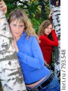 Купить «Девушки возле берез», фото № 793548, снято 4 октября 2008 г. (c) Арестов Андрей Павлович / Фотобанк Лори