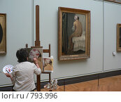 Купить «Париж. Лувр. Копиист за работой», фото № 793996, снято 6 июня 2008 г. (c) Наталия Журавлёва / Фотобанк Лори