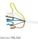 Купить «Рука с оттопыренным пальцем из кабеля», фото № 796164, снято 13 марта 2009 г. (c) Косоуров Юрий / Фотобанк Лори
