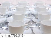 Купить «Белые чашки», фото № 796316, снято 22 июля 2008 г. (c) Петухов Геннадий / Фотобанк Лори