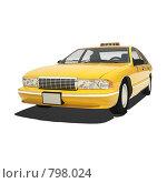 Такси. Стоковая иллюстрация, иллюстратор Скиданов Евгений / Фотобанк Лори