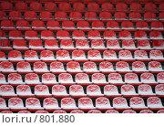 Трибуны на стадионе зимой. Стоковое фото, фотограф Андрей Лыженков / Фотобанк Лори
