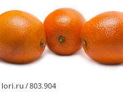 Купить «Три апельсина, фокус на среднем», фото № 803904, снято 25 марта 2009 г. (c) Руслан Кудрин / Фотобанк Лори
