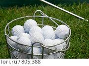 Купить «Мячи для гольфа в корзине», фото № 805388, снято 24 августа 2008 г. (c) Оксана Кацен / Фотобанк Лори