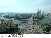 Москва-река и Кутузовский проспект (2008 год). Редакционное фото, фотограф Сергей / Фотобанк Лори