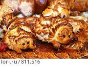 Купить «Ежик из теста», фото № 811516, снято 13 октября 2008 г. (c) Losevsky Pavel / Фотобанк Лори