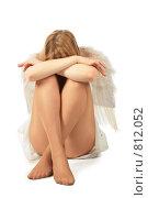 Купить «Расстроенная девушка с крыльями ангела за спиной», фото № 812052, снято 29 января 2020 г. (c) Losevsky Pavel / Фотобанк Лори
