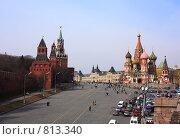 Купить «Красная площадь (Васильевский спуск)», фото № 813340, снято 11 апреля 2009 г. (c) Алексей Байдин / Фотобанк Лори