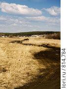 Дорога в поле, фото № 814784, снято 15 апреля 2009 г. (c) Юрий Бельмесов / Фотобанк Лори