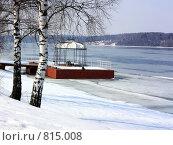 Купить «Беседка на берегу Волги. Весна. Тает лёд - Arbour on coast of Volga. Spring. Ice thaws», фото № 815008, снято 13 апреля 2009 г. (c) Сычёва Виктория / Фотобанк Лори