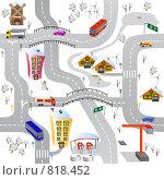Купить «Бесшовные обои. Дорога и автомобили.», иллюстрация № 818452 (c) Татьяна Медведева / Фотобанк Лори