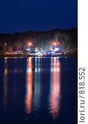 Купить «Ночные домики над водой», фото № 818552, снято 31 марта 2009 г. (c) Никончук Алексей / Фотобанк Лори