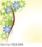 Купить «Фон с цветами», иллюстрация № 824684 (c) Наталия Каупонен / Фотобанк Лори